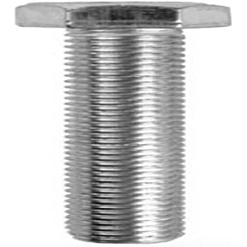 9//16-Inch Hex Hex Head Zinc Plated Dottie MB382 Tap Bolt 100-Pack 3//8-Inch-16 TPI by 2-Inch Length L.H