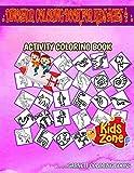Dinosaur Coloring Book For Kids Ages 4: 50 Activity Saltopus, Egg, Tyrannosaurusrex, Ankylosaurus, Euoplocephalus, Gallimimus, Amargasaurus, Saltopus ... Image Quiz Words Activity and Coloring Books