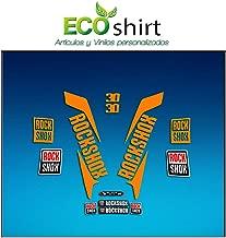 Ecoshirt DS-CJNL-F906 Pegatinas Stickers Fork Rock Shox 30 2017 Am145 Aufkleber Decals Autocollants Adesivi Forcela, Naranja Fluor 037
