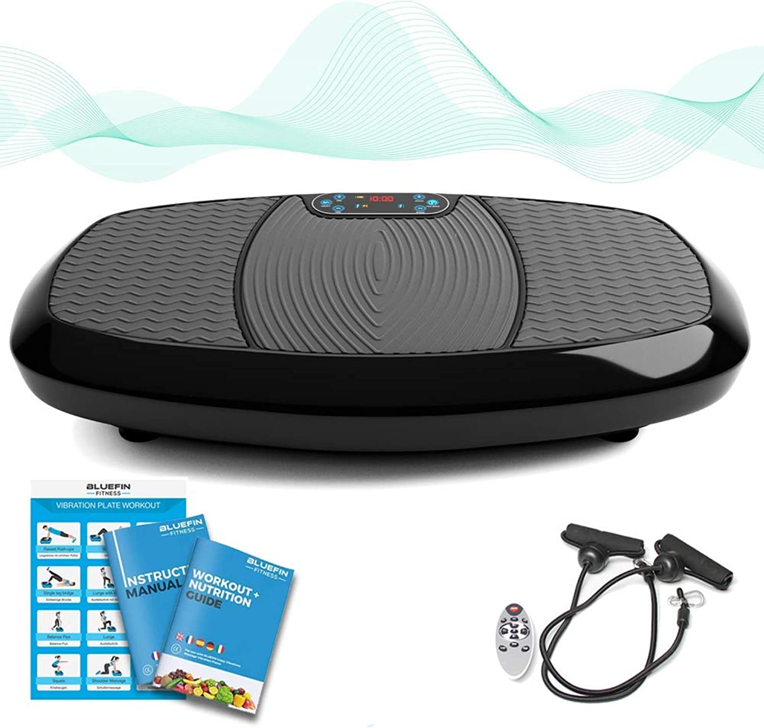 blueeefin Fitness Dual Triple Motor Vibration Platform   Oscillation, Vibration + 3D 4D Motion   Huge AntiSlip Surface   blueeetooth Speakers   Ultimate Fat Loss   Unique Design   Get Fit at Home