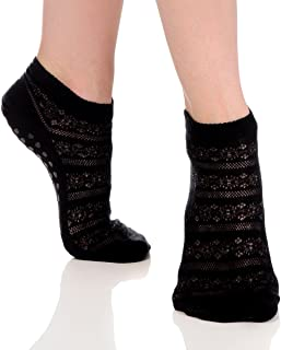 Great Soles Crochet Non Skid Sticky Grip Socks for Yoga, Pilates, Barre