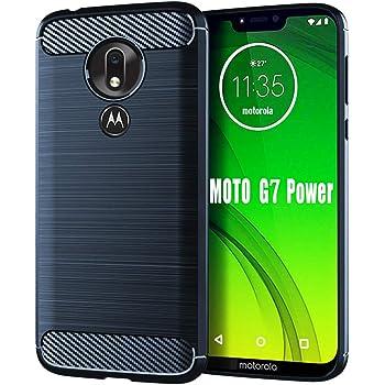 Moto G7 Power Case,Moto G7 Supra Case,HNHYGETE Soft Slim Shockproof Anti-Fingerprint Full Protective Phone Cases for Motorola Moto G7 Power 2019 (Blue)
