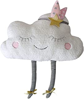 Cute Plush Toys Adorable Cloud Throw Pillow Creative Cushion Soft Stuffed Toys Doll Kids Gift Home Sofa Decoration (40cm)