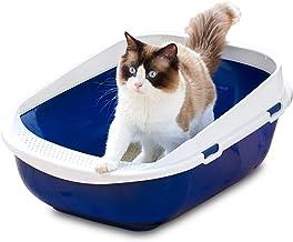 メガトレー 本体 ブルーベリー 猫用トイレ 本体 大きい猫 大きいトイレ ゆったり広々サイズ 飛び散り防止カバー付き サイズ(約) 幅48×奥65×高28.5cm