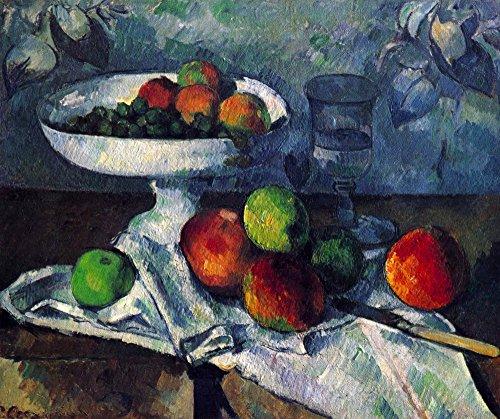 Das Museum Outlet–Stillleben mit Obstschale von Cezanne, gespannte Leinwand Galerie verpackt. 147,3x 198,1cm