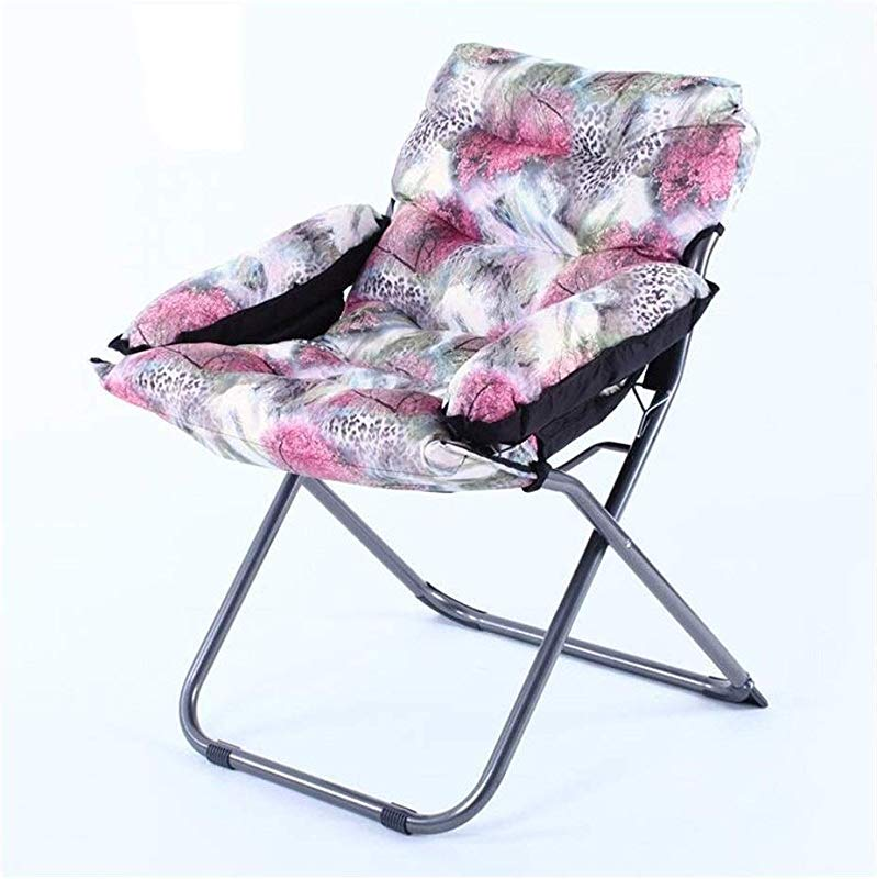 Carl Artbay Footstool Light Purple Floral Pattern PP Cotton Sofa Chair Nursing Chair Keep Warm Individual Folding Computer Chair Home