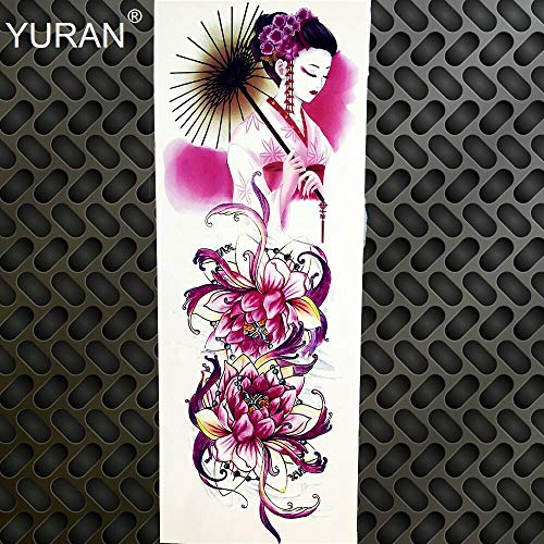 Zhuhuimin Black 3 stuks coole Totem Tattoo sticker tattoo touw fiets pasta boy mechanische arm been tattoo zwaard volle gang