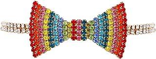 "Rosemarie & Jubalee Women's Fabulous Sparkling Crystal Choker Bow Tie Necklace, 12""+5"" Extender"