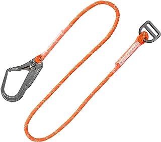 安全ベルト ランヤード フルハーネス対応ランヤード 平ロープ式補助ランヤード 収納袋 フック カラビナ付 落下防止 電気工事 高所での安全作業