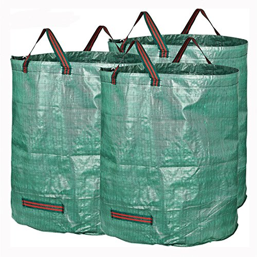 Generic 3 Packs Garden Waste Bags 72 Gallons Branch Leaves Collecting Housekeeping Storage Baskets