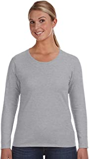 Ladies' Lightweight Long-Sleeve T-Shirt-White