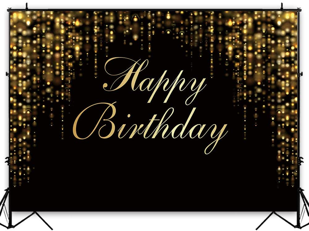 Poster Adults Party Banner Printable ONLY Birthday Backdrop Black and Gold Backdrop Personalised Signage