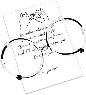 Braccialetti di coppia di attrazione reciproca magnetica 2 pezzi Braccialetti di corrispondenza intrecciati con corda fatt...
