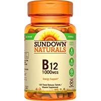 120-Count Sundown Naturals Vitamin B-12 1000 mcg Time Release Tablets