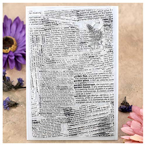 Kwan Crafts Newspaper Background Clear Stamps for Card Making Decoration and DIY Scrapbooking