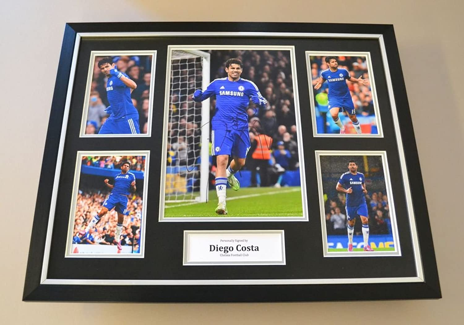 Diego Costa Signed Photo Large Framed Autograph Display Chelsea Memorabilia +COA