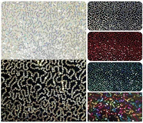 Purple Sewing Materials Sold By The Yard Holographic 4mm Sequins On Polyester Spandex Costume Fabric 2 Way Stretch DIY Fabric