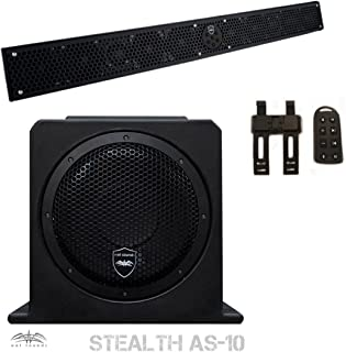 Wet Sounds Package - Black Stealth 10 Ultra HD Sound Bar w/ Remote and AS-10 10