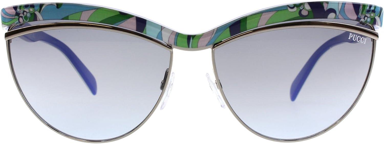 Emilio Pucci Women's Sunglasses EP0010 89W Turquoise bluee Lens 61mm Authentic