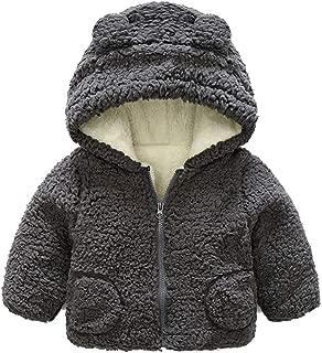 Fairy Baby Toddler Baby Unisex Cartoon Winter Thick Outwear Cute Hood Fleece Jacket