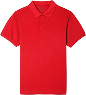 NAUTICA Young Men's Uniform Short Sleeve Stretch Pique Polo