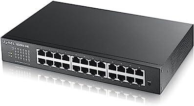 Zyxel Gigabit Switch inteligente de 24 puertos - Diseño sin ventilador, Garantía de Por Vida [GS1900-24E]