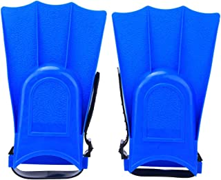 Diving Flippers, PVC Lightweight Practical Blue Snorkeling Short Flippers, 19X11.5Cm for Diving Snorkeling Fishing Tackle ...