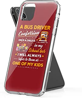 Jenny.P Compatible for iPhone 11 Kindness Bus Driver Confession Cute Design Hard PC with Soft TPU Edges Anti-Yellowing Protective Case