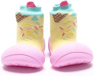 [Attipas] アティパス ベビーシューズ [ アイスクリーム ] / かわいいベビーシューズ 滑り止め 公園遊び 出産祝い プレゼント あんよの練習 保育園靴 ソックスシューズ プレシューズ 室内履き 女の子 男の子