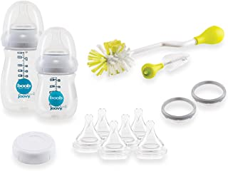 Joovy Boob PP Baby Bottle Starter Set, Clear