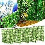 banapoy Césped de simulación, Pared de Plantas Artificiales, Estructura Bien diseñada para decoración de acuarios, Patio, Porche, cercas de Madera