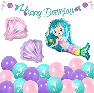 mermaid birthday balloons
