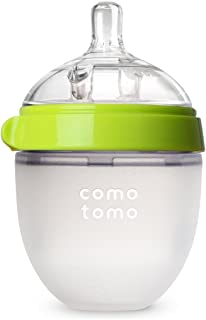 Comotomo Natural Feel Baby Bottle, Single Pack - Green, EN_150G