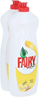 Fairy Lemon Diswashing Liquid, 2 x 750 ml