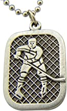 Pewter Saint Christopher Youth Sports Athlete Medal Pendant, 1 Inch