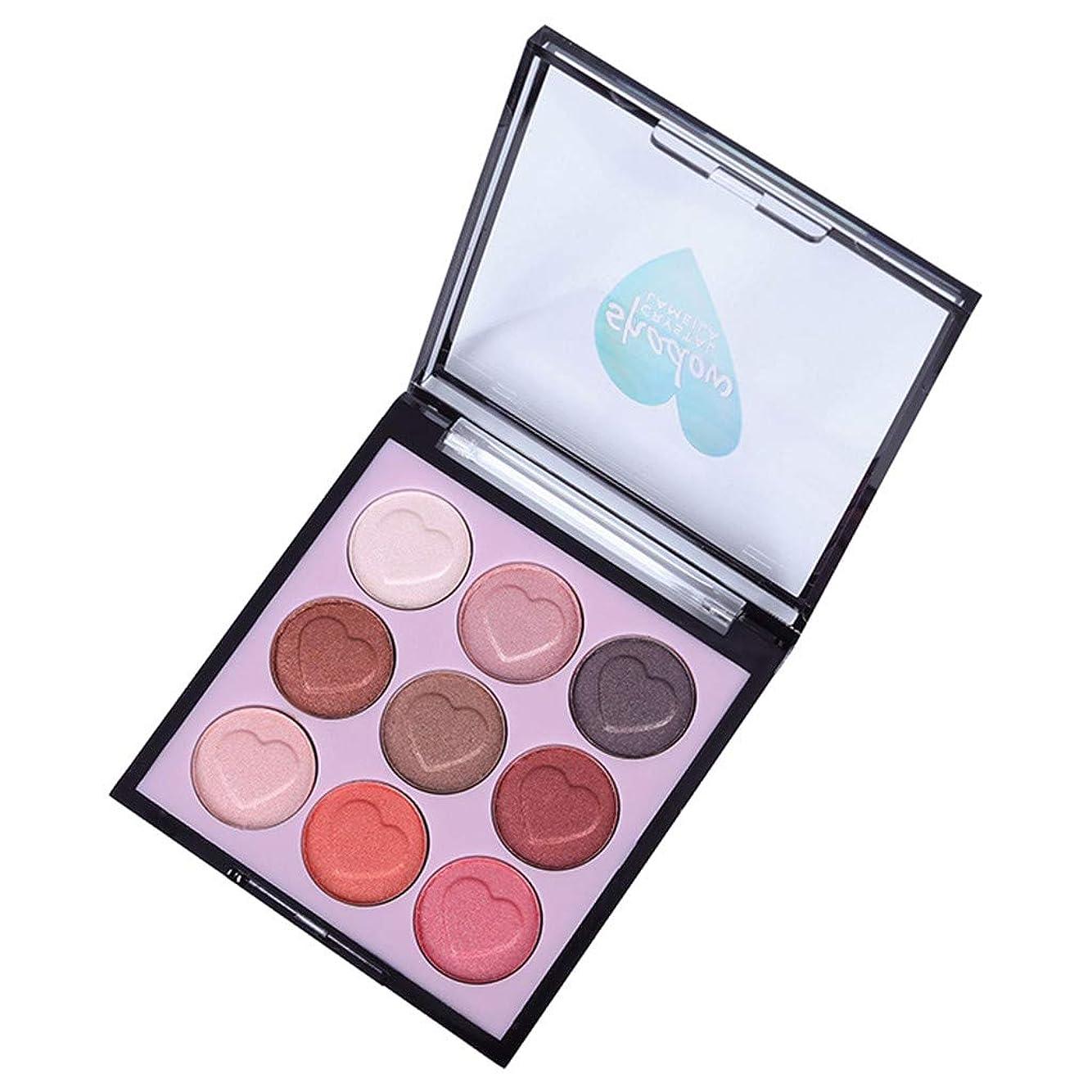 レキシコンベテラン期限アイシャドウ化粧品セットブラシ9色アイメイクパレット