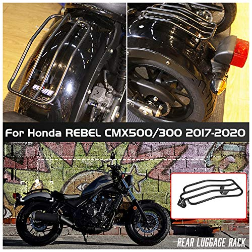 FATExpress for 17-20 Hon-da Rebel CMX 500 300 Motorcycle Rear Luggage Rack Top Case Holder Carrier Support Basket Bracket Adapter 2017 2018 2019 2020 CMX500 CMX300 Motorbike Accessories
