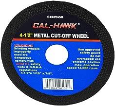 Cal Hawk Tools CZCW45B Metal Cut-Off Wheel (50 Pack), 4-1/2