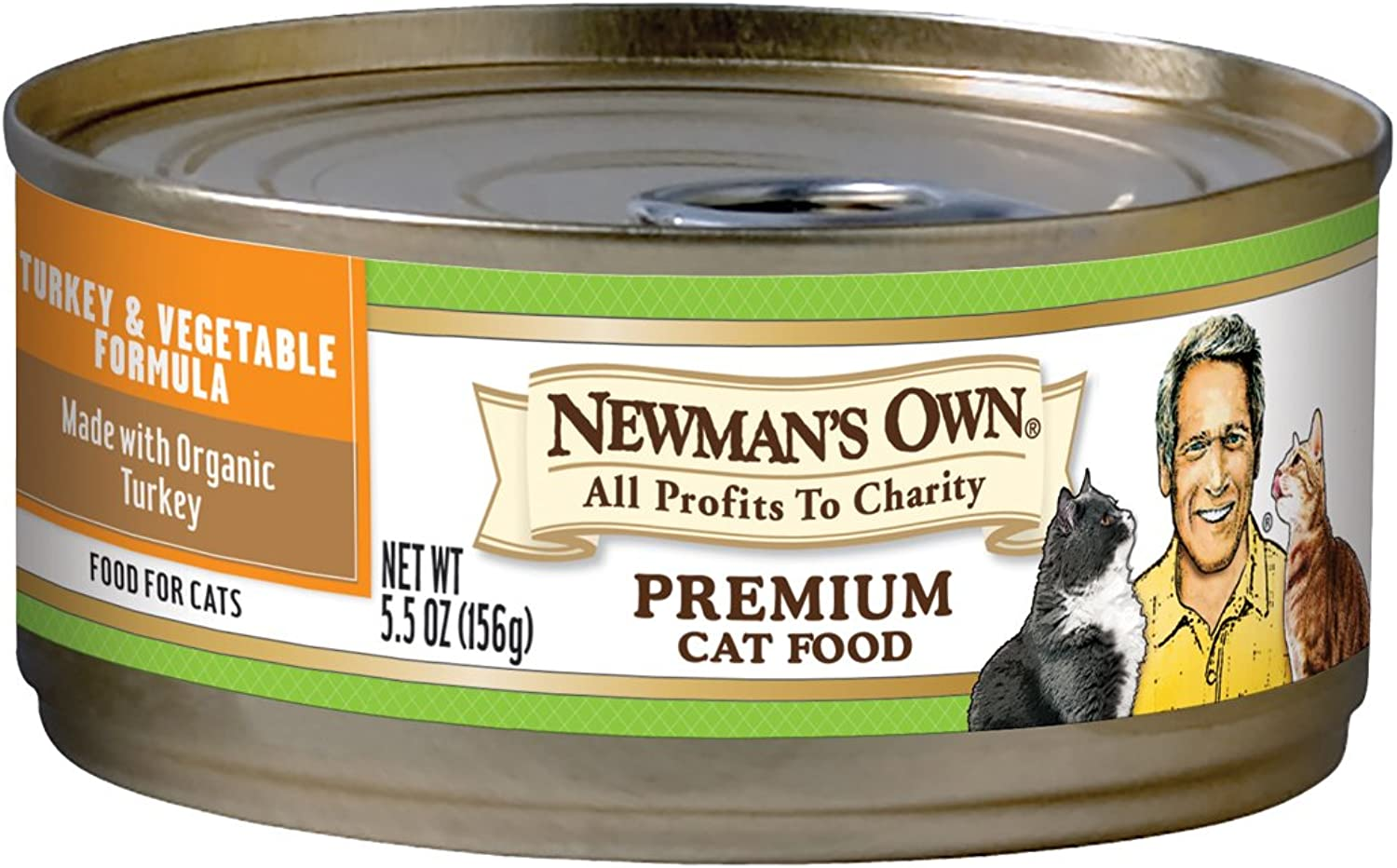 Newman's Own Premium, Turkey and Vegetable Formula for Cats, 5.5Ounce Cans (Pack of 24)
