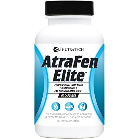 Atrafen Elite - ProfessionalStrength Diet Aid That Supports Weight Management, Promotes Energy and HelpsSuppressFood Cravings & Appetite. Dietary Supplement.60Pills.