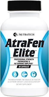 Atrafen Elite - Professional Formula Appetite Suppressant Fat Burner Diet Pill and Thermogenic for Fast Weight Loss. Works...