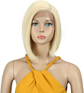 DÉBUT lace front wigs for black women Bob blonde wigs for white women synthetic hair 9.5