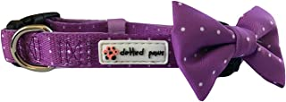 Dotted Paws Dog Collar Bow Tie Padded Cute Polka Dots Comfortable Neoprene Fabric for Ruffed Adventures