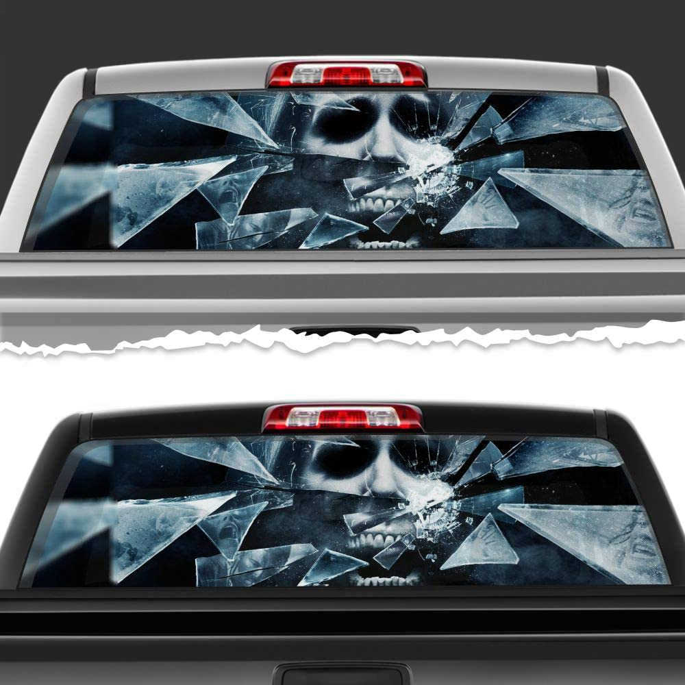 Simynola Creepy Monsters Death Perforated List price Seasonal Wrap Introduction T Accessories Film Car