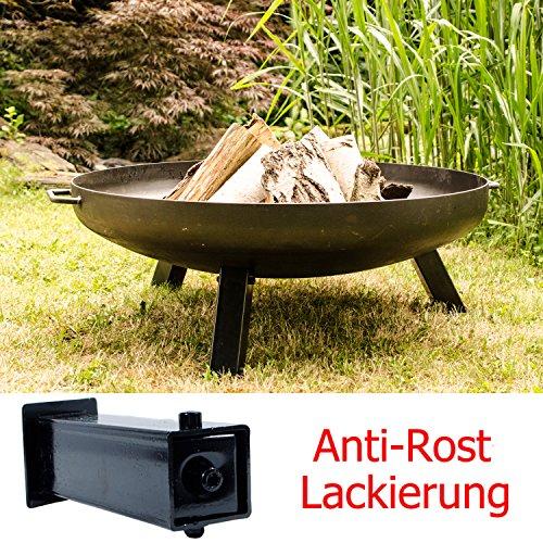 Garten Kumpel Anti-Rost - Feuerschale Ø 79/80 cm London + Anti-Rost lackierte Abnehmbare Beine 41003