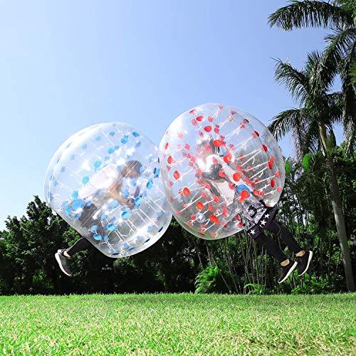 Inflatable Bumper Ball 1.5M/5ft Diameter Adults Bubble Soccer Balls Blow Up Toy Kids Playground Balls Human Hamster Knocker Ball Outdoor Zorb Balls