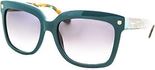 Ferragamo Salvatore Petrol Blue Plastic Frame Grey Gradient Lens Ladies Sunglasses SF676S416217875517