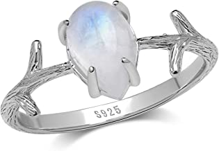 RING Moonstone Silver 925 size sWE usa 50 size 5.25 ring Moonstone silver stone ring style hippie women gift