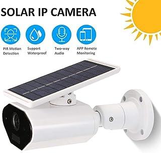 NWHEBET Überwachungskamera Solarpanel, Solar 1080p kabellose WLAN IP Kamera mit wiederaufladbarer Batterie, 2 Wege Audio und SD Kartenslot für Außen, kostenlose App und PC Client