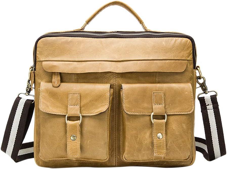 Messenger Bags Fits 14 Laptop Genuine Leather Sling Bag Shoulder Bag Men Zhhlinyuan